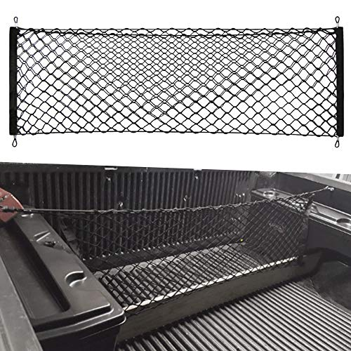 VCiiC Truck Envelope Style Trunk Rear Cargo Net for Toyota Tacoma 2005 06 07 08 09 10 11 2012 2013 2014 2015 2016 2017 - Toyota Divider Cargo