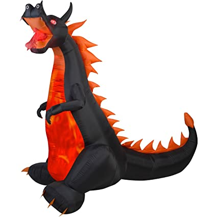 e0600bfd52b48 Amazon.com  Gemmy Airblown Inflatable 7  X 7.5  Dragon with Lights and  Animation Halloween Decoration  Garden   Outdoor