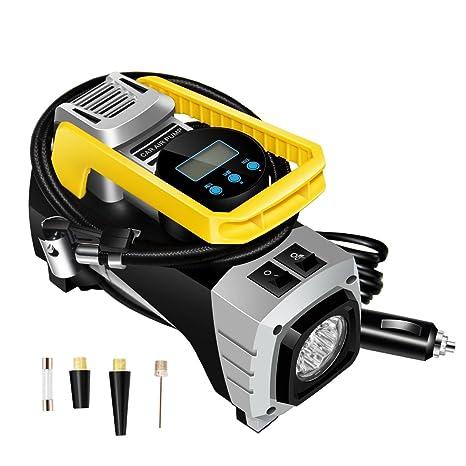 Bibowa - Bomba de aire digital para neumáticos de coche, bomba de neumáticos, encendedor