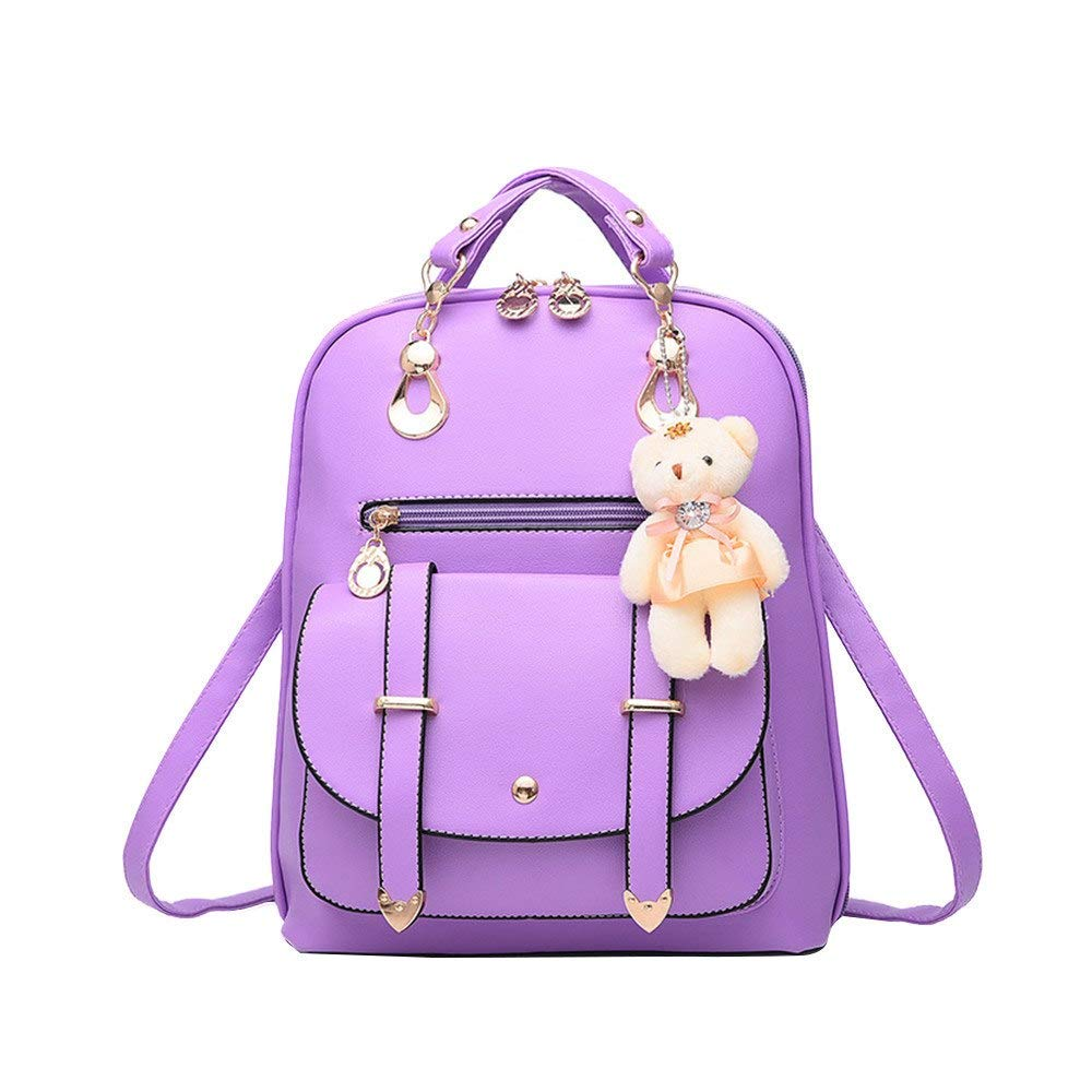 Amazon.com: Fashion Women Backpacks PU Leather Backpack Teenage for Girls Female Mochila: Kitchen & Dining