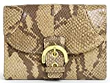 Authentic Coach Soho Embossed Exotic Compact Wallet 45817 Natural