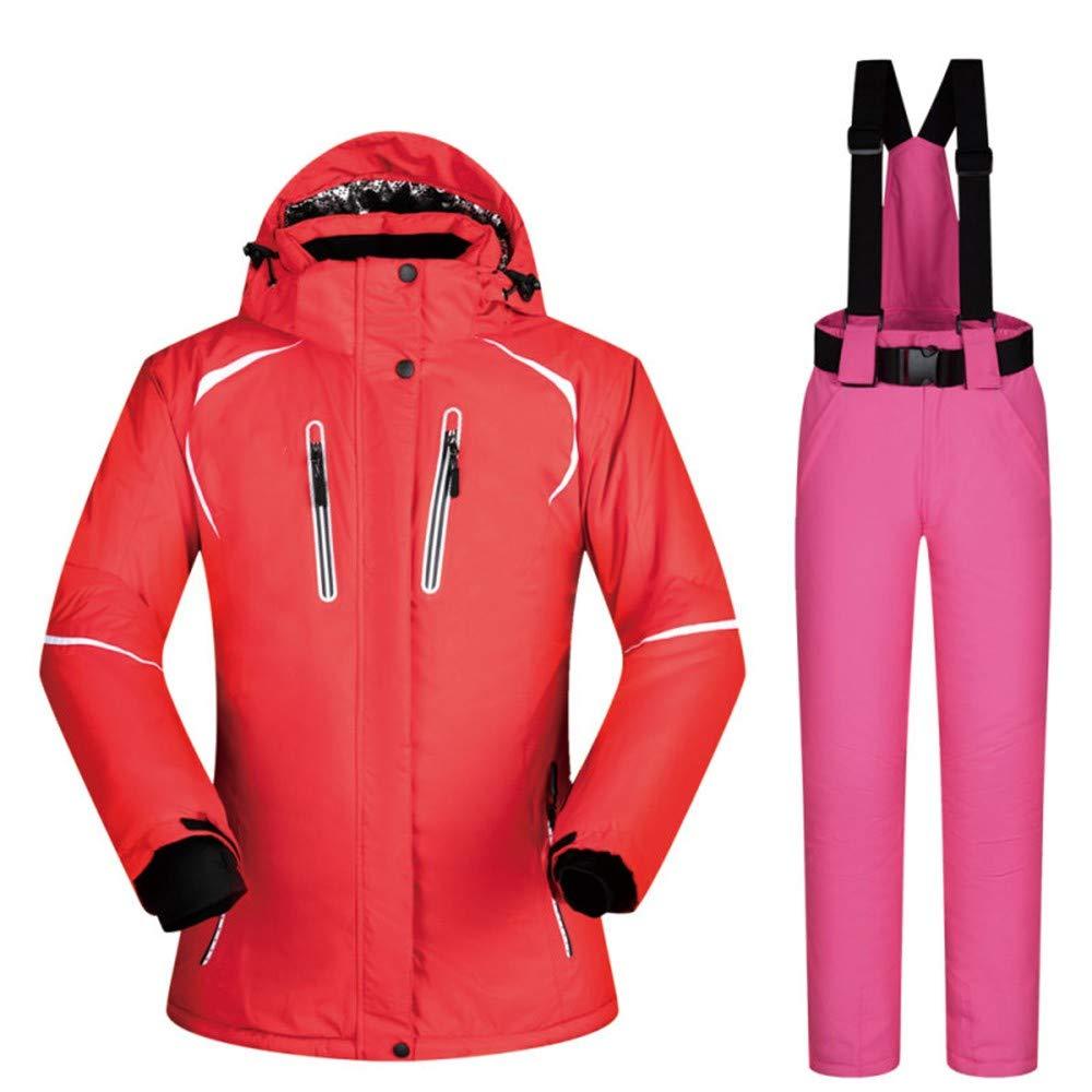 IFUEN Tuta Sci Tuta Sci da Sci Tuta Donna Inverno Abbigliamento da Neve Set Giacca  da Sci Impermeabile Spesso E Pantaloni Set 4a7e50219d0