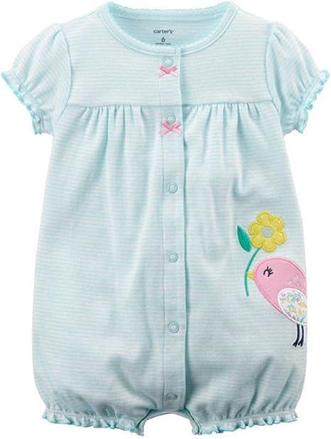 Bebé Niña Mameluco - Bebé Peleles 100% Algodón Mameluco Mono Ropa de Dormir Manga Corta Traje de Verano, 3-6 Meses: Amazon.es: Bebé