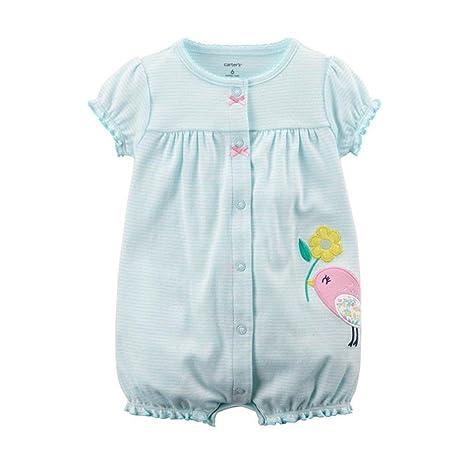 Bebé Niña Mameluco - Bebé Peleles 100% Algodón Mameluco Mono Ropa de Dormir Manga Corta