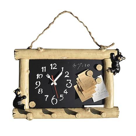 Reloj De Pared Pequeño Pizarra Negro 10 Pulgadas Silencioso ...