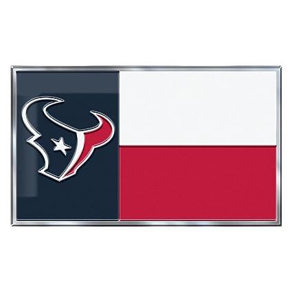 022c9e06 NFL Houston Texans Texas State Flag Automobile Emblem, 3.75 x 2.25-inches