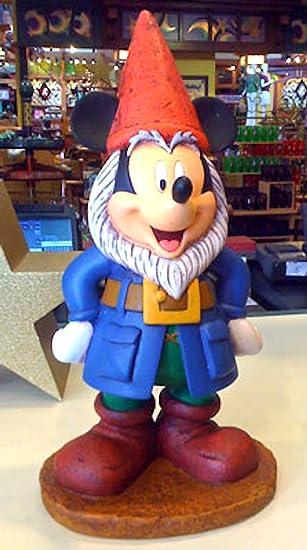 Disney Mickey Mouse Gnome Garden Figurine Figure Statue NEW: Amazon ...