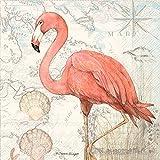 Ideal Home Range 20 Count Flamingo Paper Cocktail Napkins