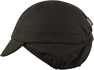 product image for Wool 3-Panel Ear Flap Black/Grey Cycling Cap
