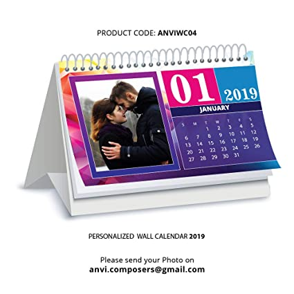 Personalised Photo Calendars 2019 Anvi Composers Card Board Table Calendar of 2019 with Personalised