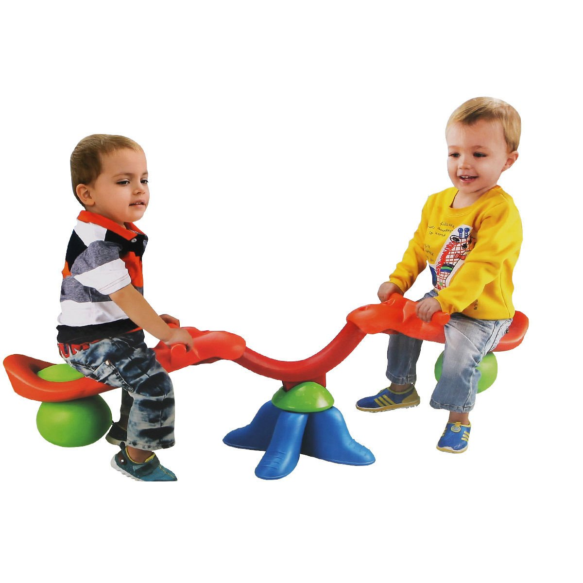 Globe House Products GHP Kids Toddlers 360-Degree Rotation Easy-Grip Seesaw Spinning Teeter Totter Bouncer by Globe House Products (Image #2)