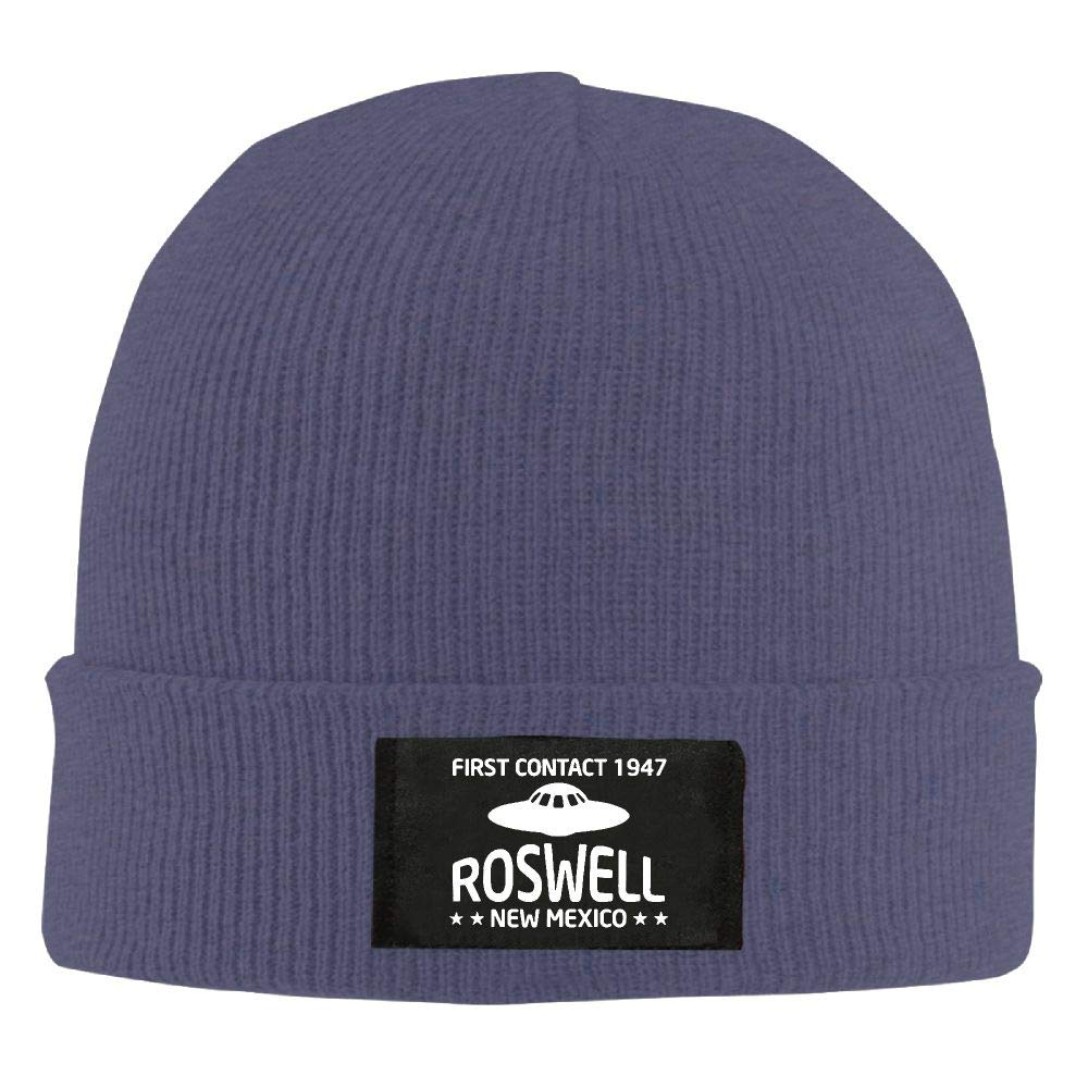 DLOAHJZH-Q Adult Unisex First Contact 1947 Roswell New Mexico Student Beanies