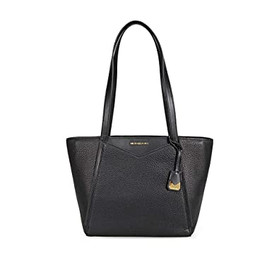bad2cd6c07b9 MICHAEL by Michael Kors Whitney Small Black Top Zip Tote one size Black