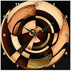 3dRose dpp_4050_1 LLC Digital Artwork Design Wall Clock, 10 by 10-Inch