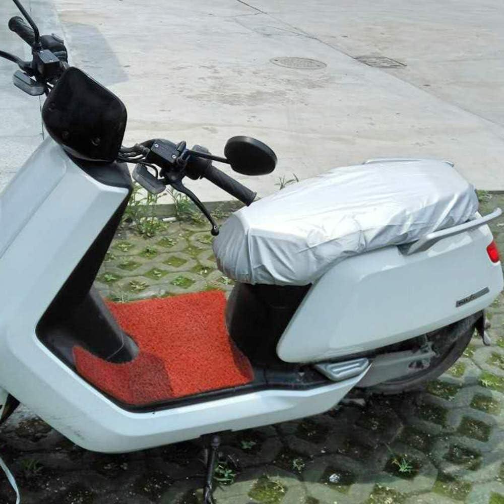 KKmoon Funda Impermeable para Asiento de Scooters ,plata L:88 x W:58cm PU Cuero,XL Cubierta Asiento Moto 210D Oxford