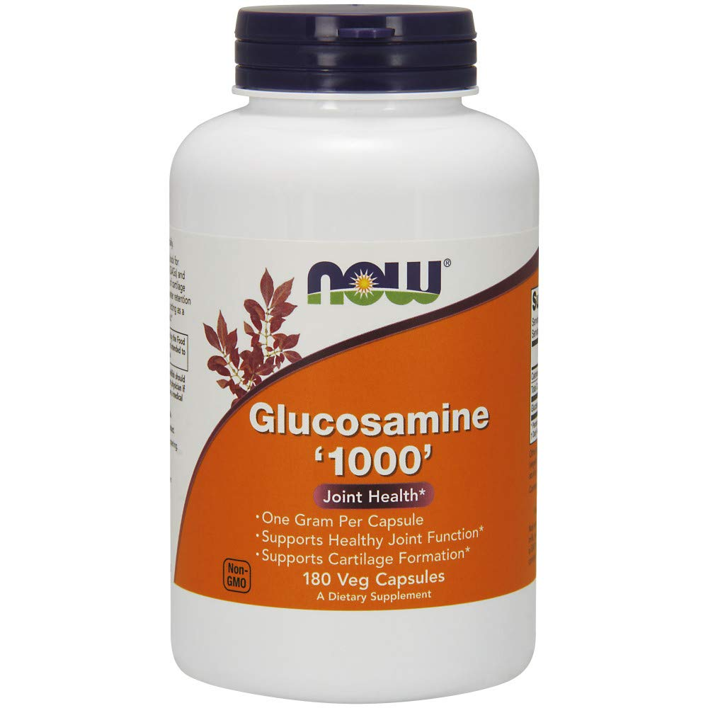 Now Supplements, Glucosamine '1000', with UL Dietary Supplement Certification, 1 g Per Capsule, 180 Veg Capsules by NOW Foods