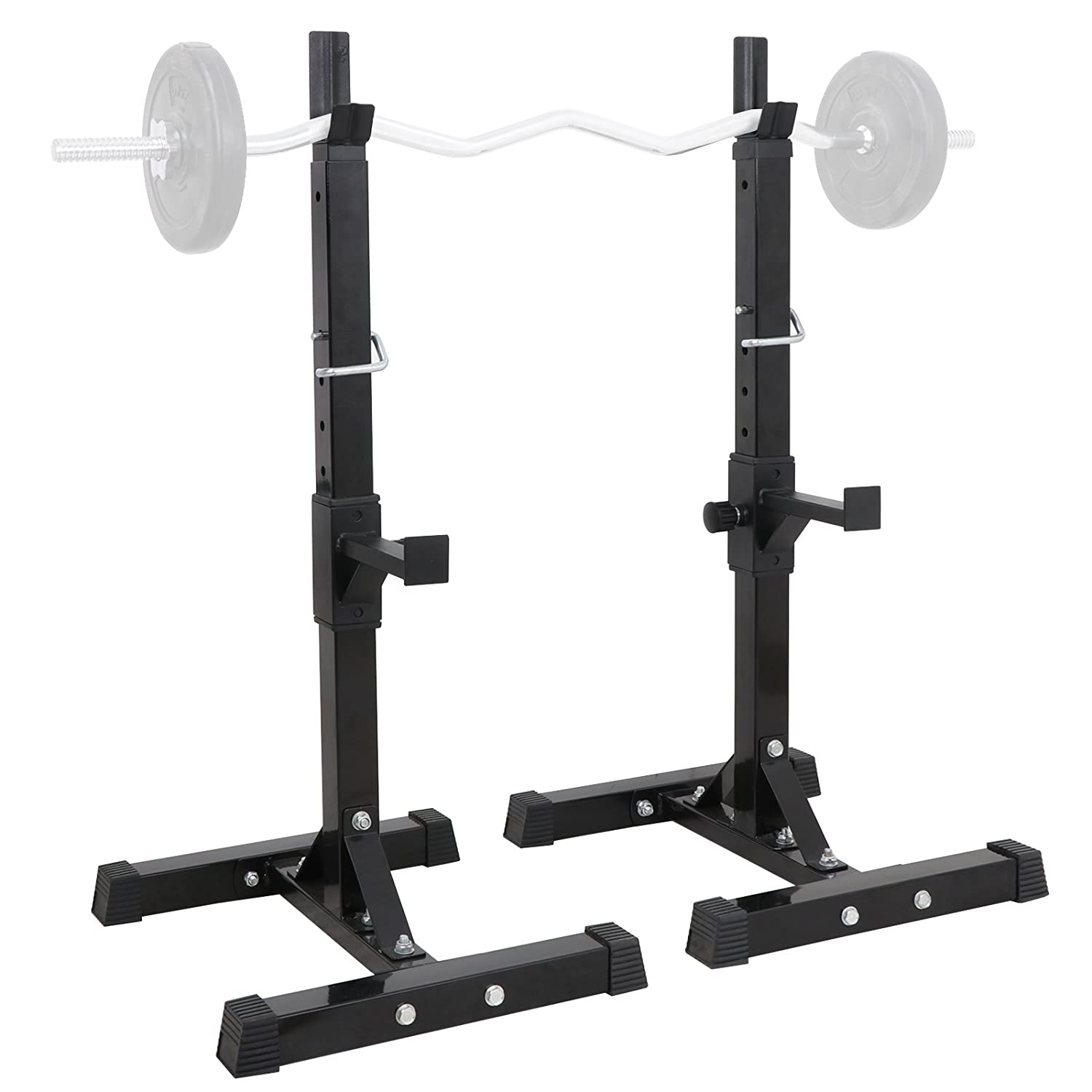 Amazon.com : smartxchoices set of 2 barbell squat rack stand
