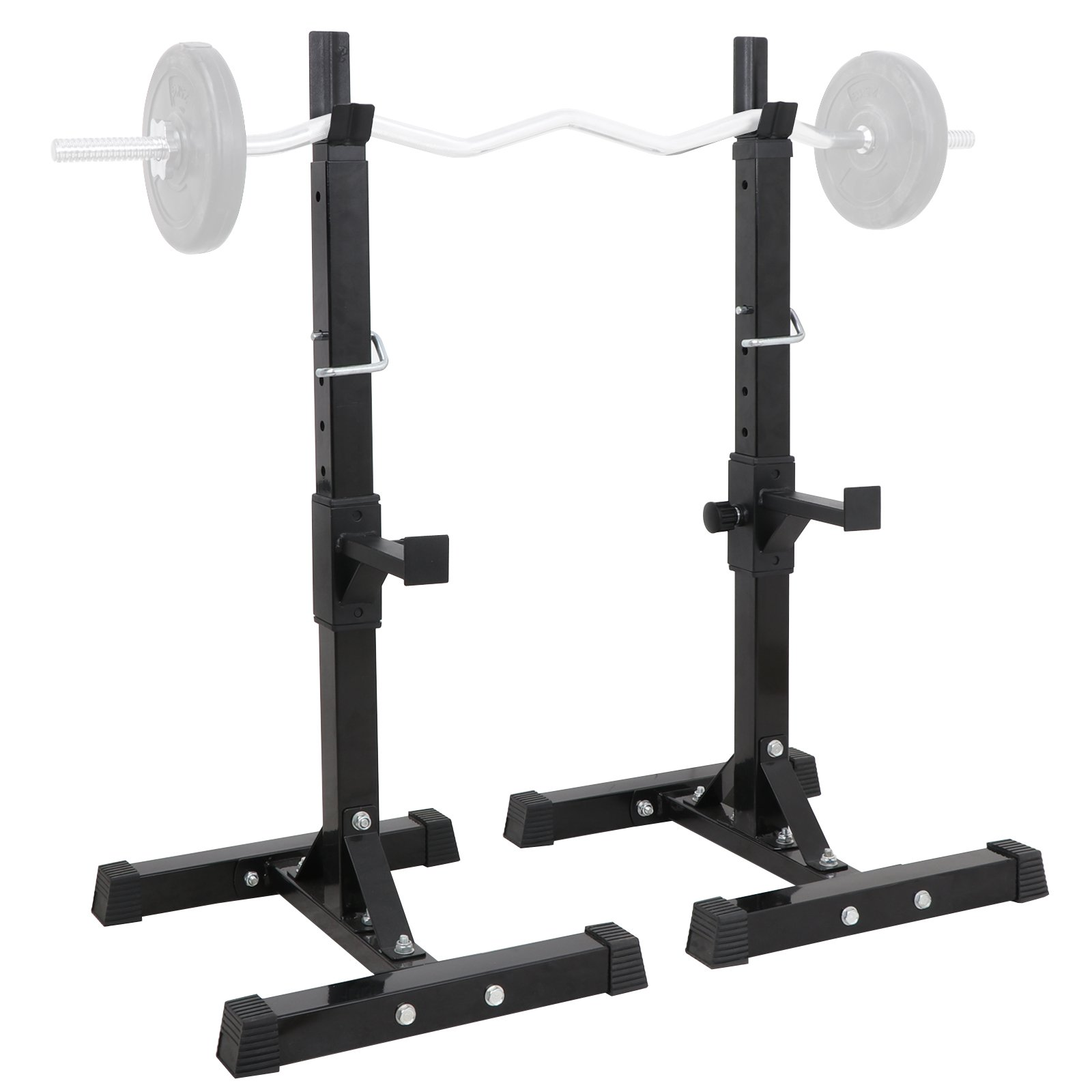 ZENY Pair of Barbell Bench Press Stands Hight Adjustable 41''-66'' Rack Sturdy Steel Squat Dumbbell Racks Stands for GYM/Home Gym Portable, Max Load 550Lbs