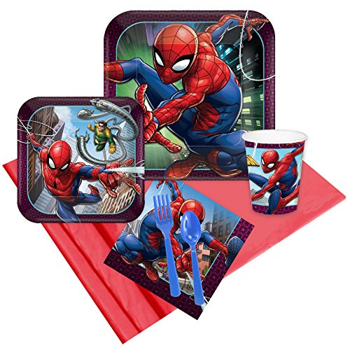 BirthdayExpress Spiderman Webbed Wonder 24 Guest Party -