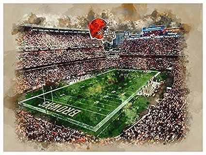 Amazon.com : Atlas Cleveland Browns Poster Watercolor Art Print ...