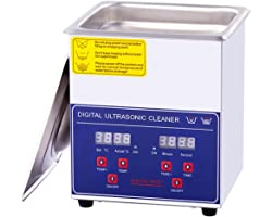2L Ultrasonic Cleaner with Digital Timer and Heater, Professional Ultrasonic Jewelry Cleaner for Denture, Coins, Daily Necess