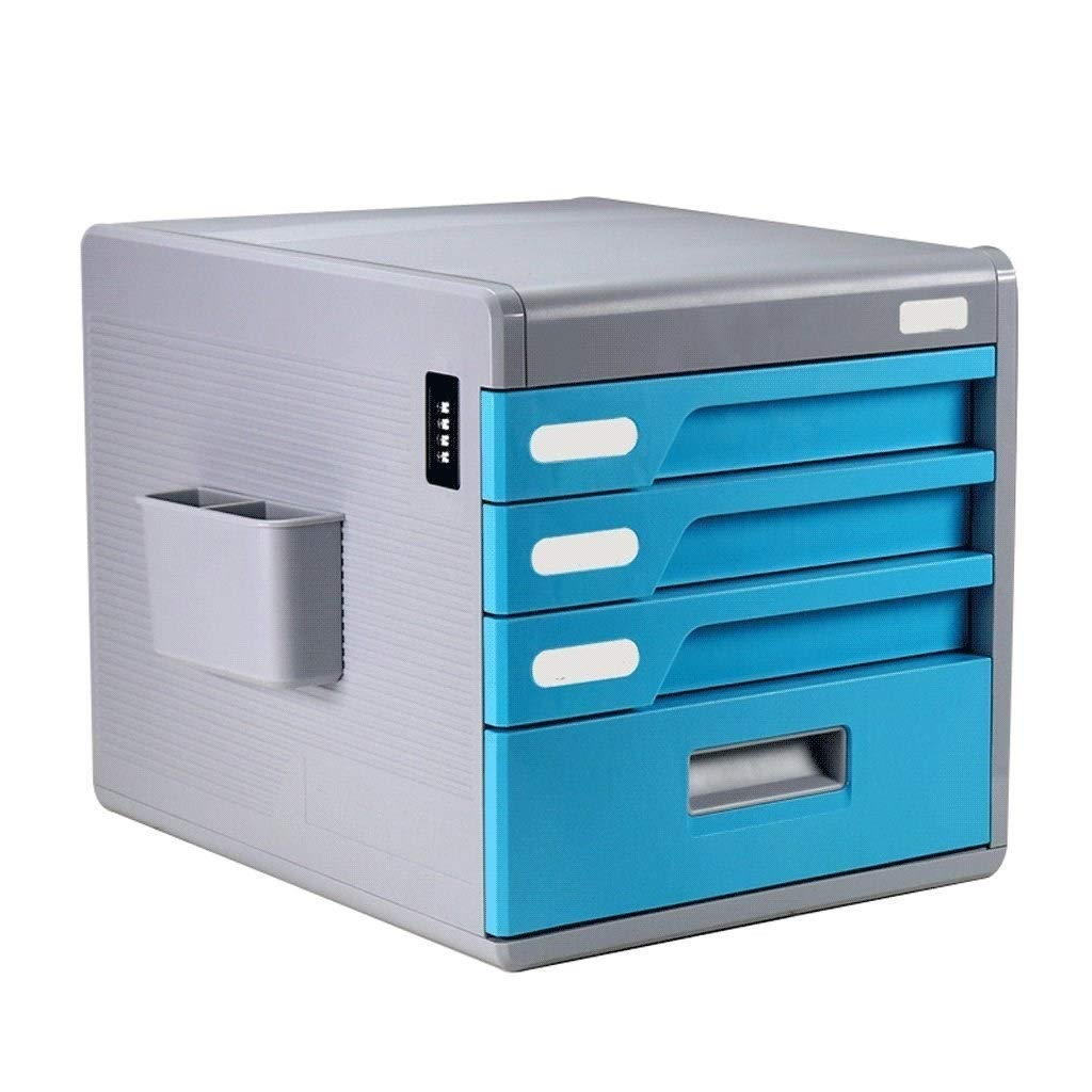 File cabinets Multi Layer Lock Office Storage Box Plastic Drawer Flat