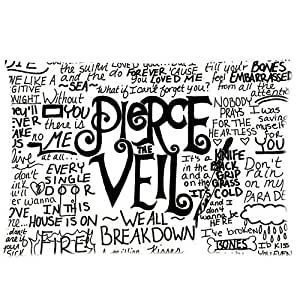 Custom Pierce The Veil Band Rectangle Pillow Case 20x30 (one side) Home Decoration For Lovers And Friends