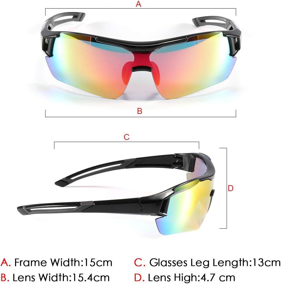 Gafas de Sol Deportivas,CrazyFire UV 400 Protección Gafas Deportivas Polarizadas con 5 Set De Lentes Intercambiables para Hombre Mujer: Amazon.es: Deportes y aire libre