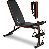 Weight Bench Adjustable, Workout Bench Press, Foldable Incline/Decline Sit Up Exercise bench, Multi-Purpose Strength…