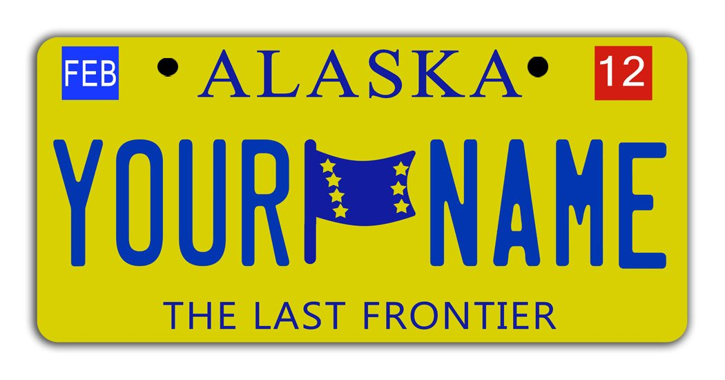BleuReign Personalize Your Own 2016 Alaska State Bicycle Bike Stroller Children's Toy Car 3''x6'' License Plate Tag