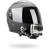 O RLY Helmet Chin Mount Helmet Mount Kit/Helmet Front Side Swivel Mount/Flat Curved Adhesive Mounts for GoPro Hero 3 4 5…