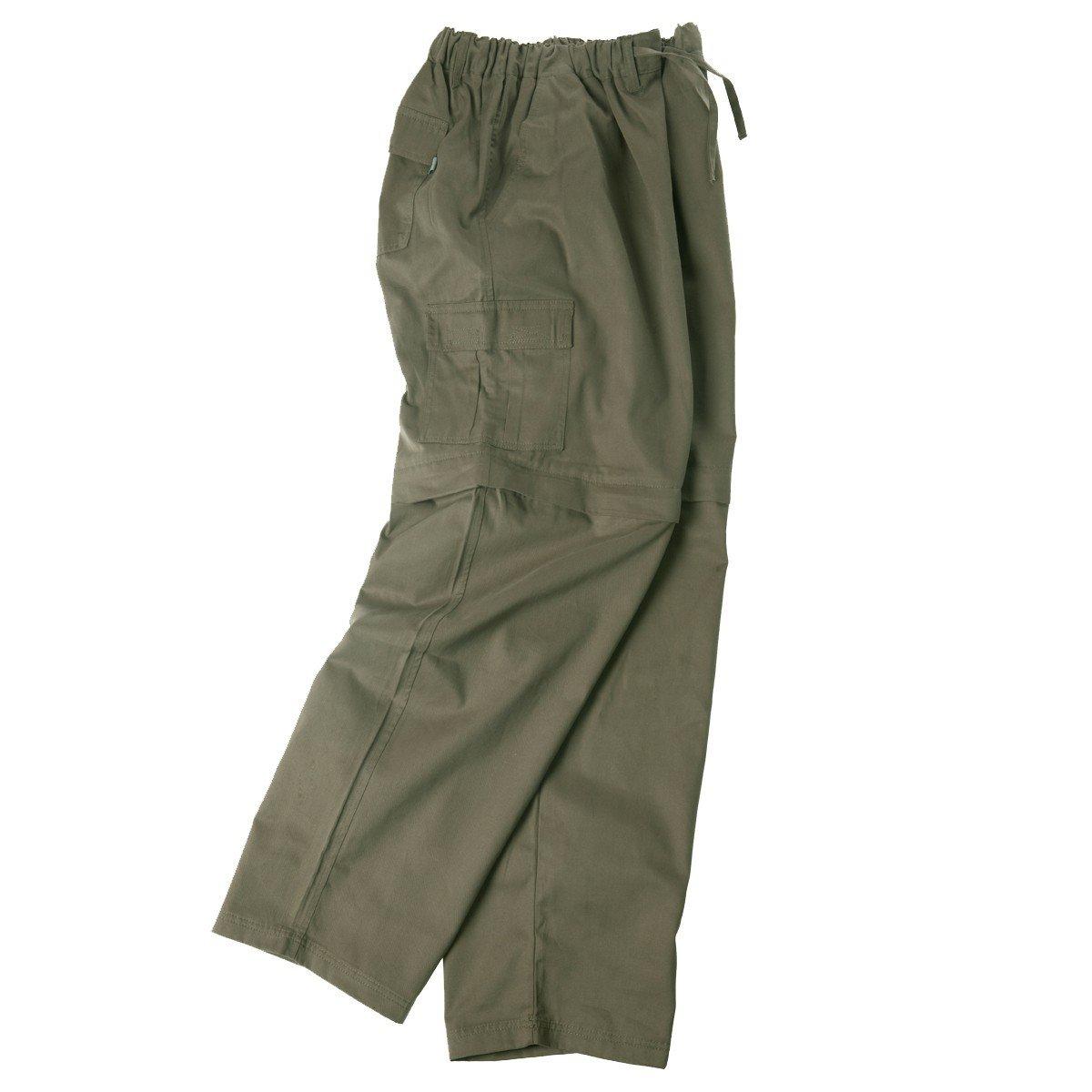 XXL Pantalones con un cintur/ón el/ásticos en caqui