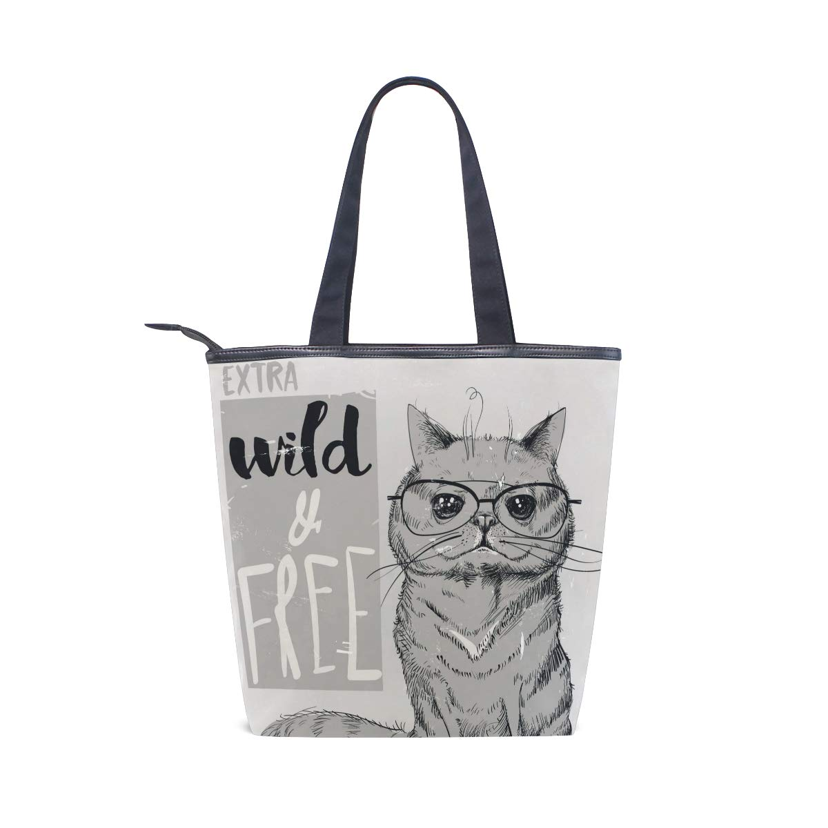 Books Daily Use SHANGLONG Womens Cute Cats Canvas Tote For College School Laptop