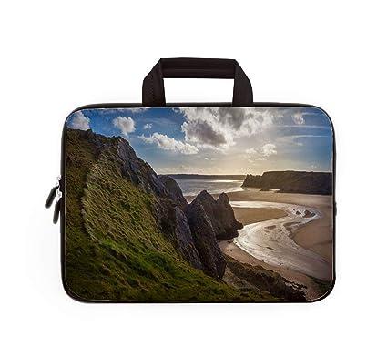 Amazon com: Leisure Laptop Bag,Three Cliffs Bay Wales,13