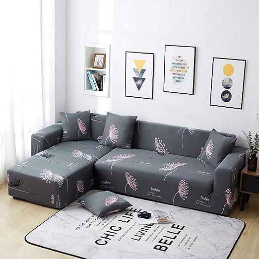 Cubierta para Sofa Funda De Sofá L-Forma Chaise Longue ...