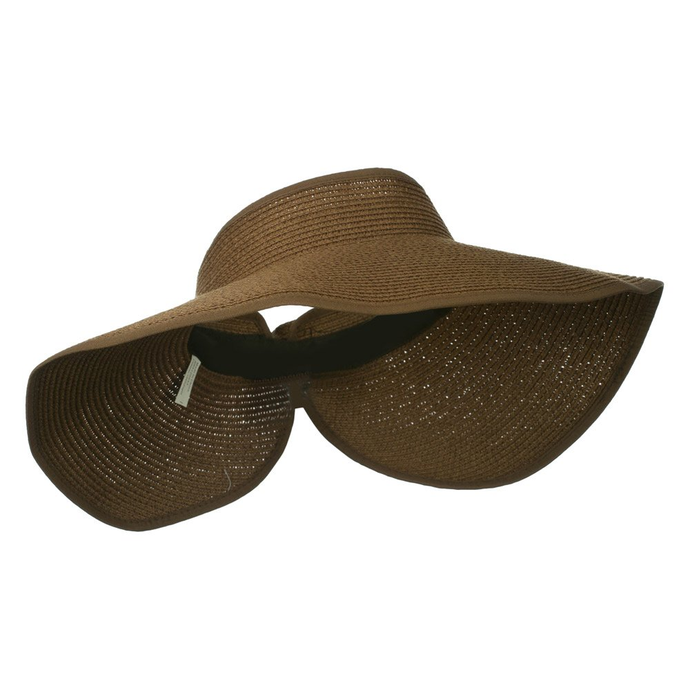 997caae92 Jeanne Simmons UPF 50+ Bow Closure Roll Up Visor - Brown W39S33D