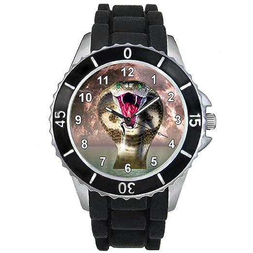 5e6cfd1d7 Cobra Unisex Reloj para hombre y mujer con correa de silicona negro:  Timest: Amazon.es: Relojes
