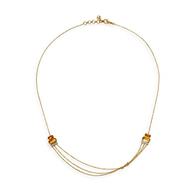 Buy Mia by Tanishq 14KT Yellow Gold, Diamond and Citrine Necklace