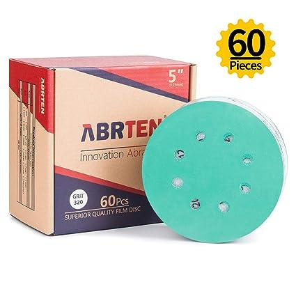 5 X 125mm  DA  SANDING DISCS 8 HOLE 120 GRIT Blue Spot HOOK /& LOOP