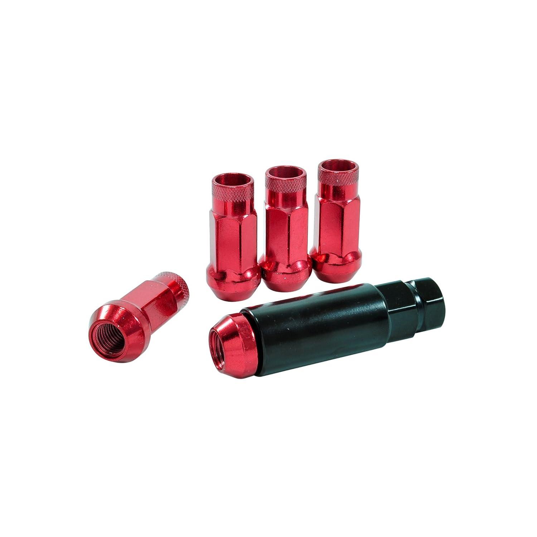 dpPerformance Lug Nuts Stahl M12x1,25 Radmuttern Steel Rot Nissan Subaru Suzuki Japan JDM