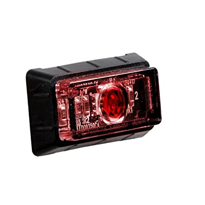 "Maxxima M09350RCL 1.50"" P2 Rectangular Red Clearance Marker Light, 12.8 VDC: Automotive"