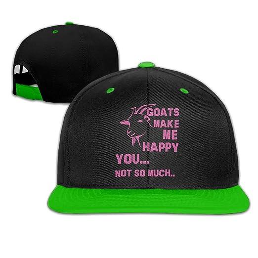 JLPOU-6 Mens Womens Hip-Hop Hats Goats Make Me Happy You e7ffcfa983