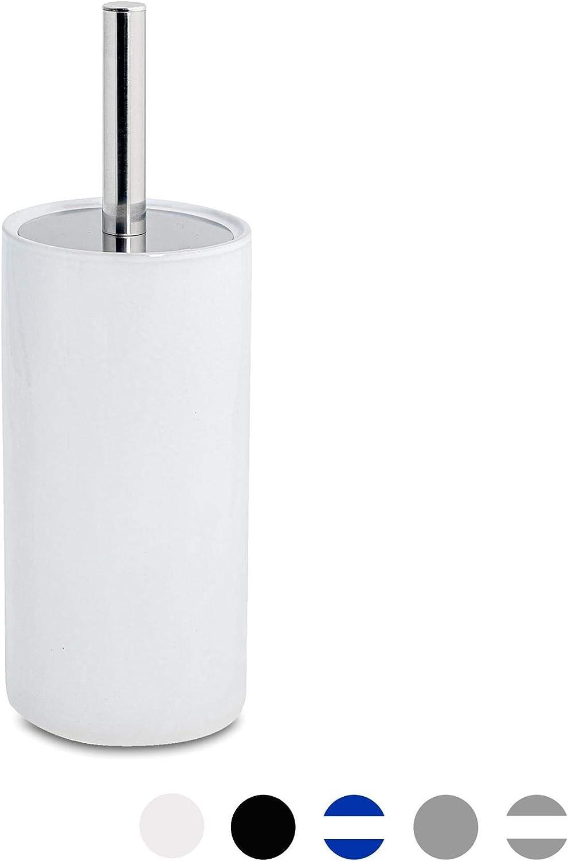 Salle de Bain Toilette Brosse /& Support discret en céramique Set salle de bain-Blanc