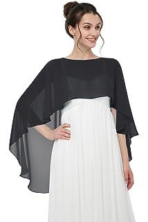 Shawls and Wraps for Evening Dresses Chiffon Wedding Capes Soft Shrugs acbd5f199a0c