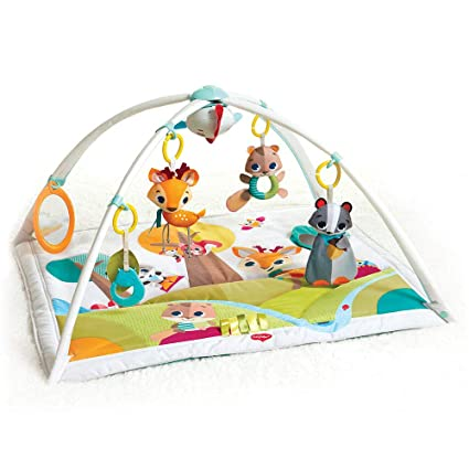 82b488296843 Tiny Love GYMINI DELUXE INTO THE FOREST - Manta musical de juegos para  bebés, con