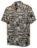 Pacific Legend Boys Ancient Hawaiian Memories Shirt BROWN L