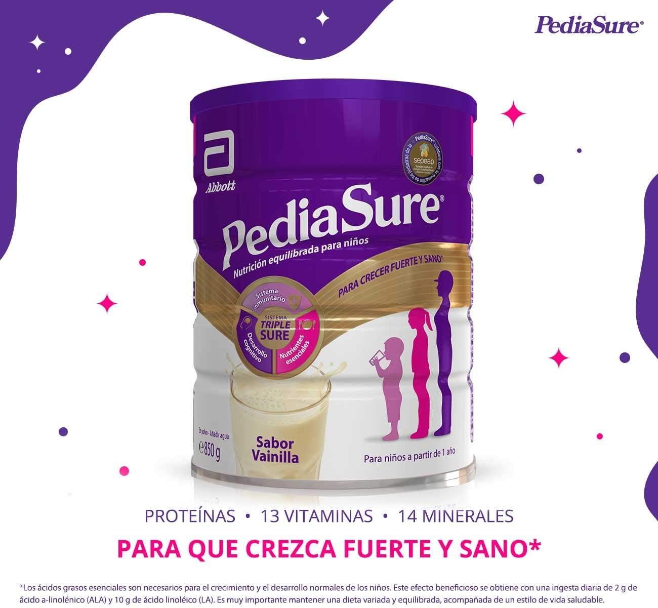 PediaSure Complemento Alimenticio para Niños, Sabor Vainilla, con Proteínas, Vitaminas y Minerales - 850 gr