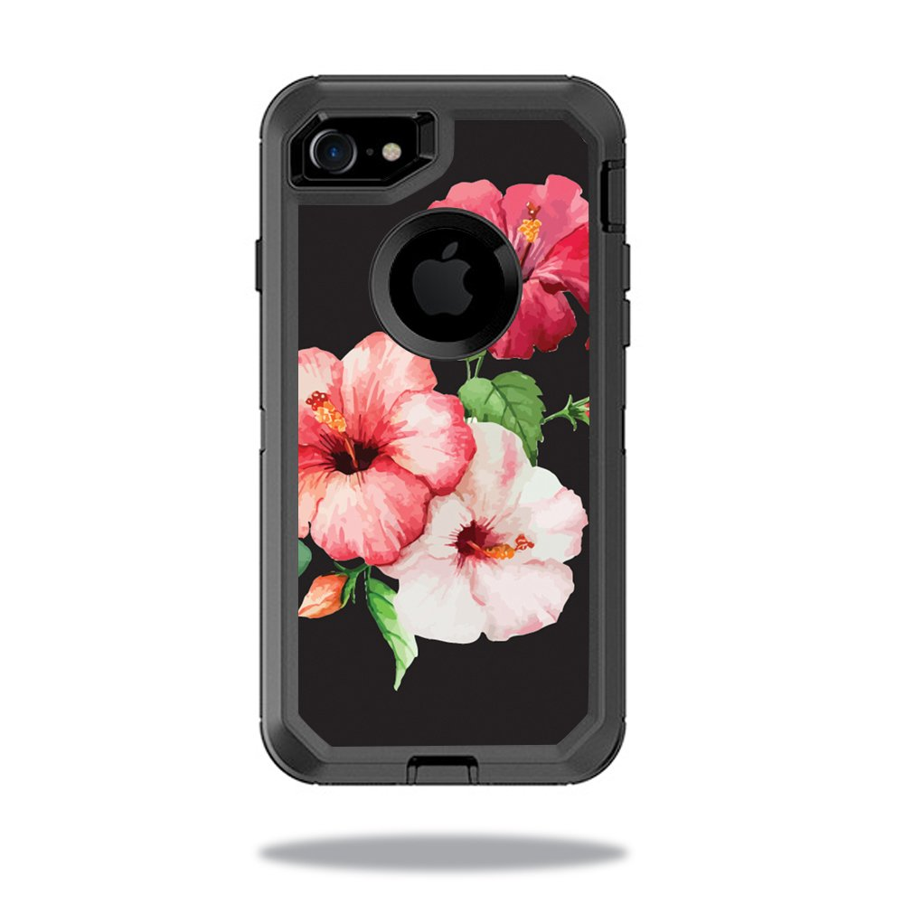 MightySkins Skin Compatible with OtterBox Defender iPhone 7 Case wrap Cover Sticker Skins Hibiscus