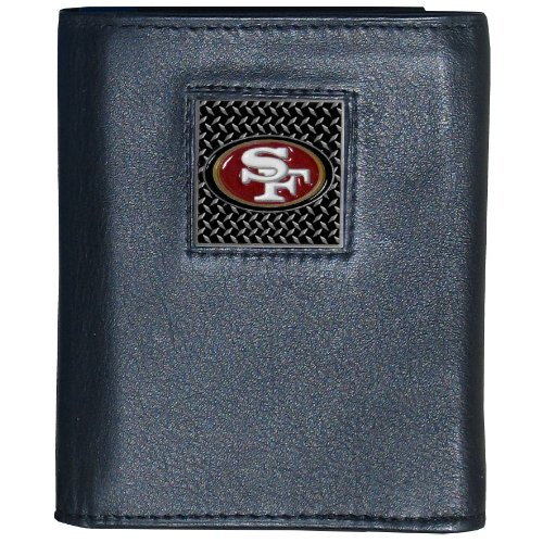 NFL San Francisco 49Ers Gridiron Leather Tri-Fold Wallet