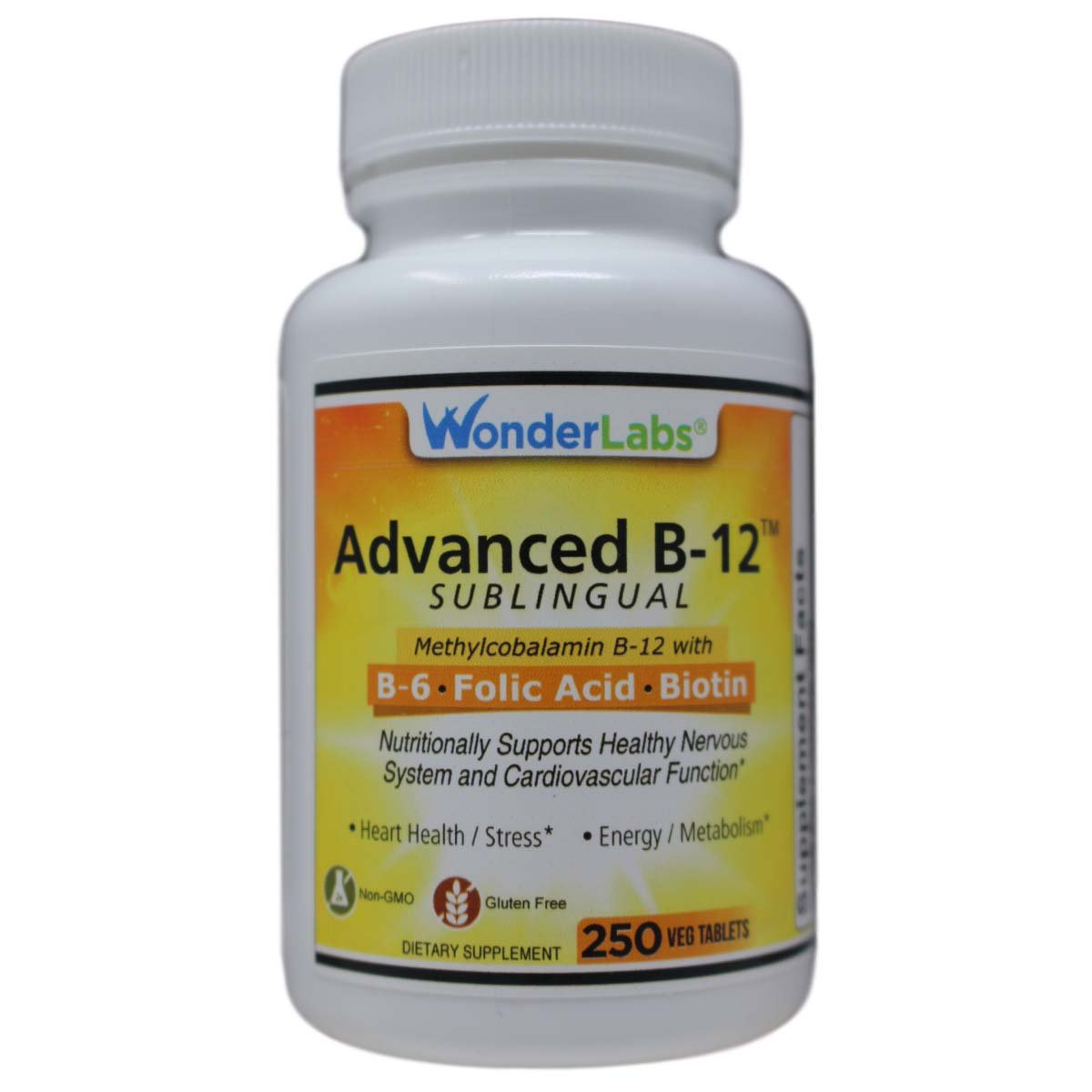 Sublingual Vitamin B12 1000 Mcg B6 5mg Folic Acid 400 Mcg Biotin 25mcg Formulated With Methylcobalamin Vitamin B 12 250 Tablets